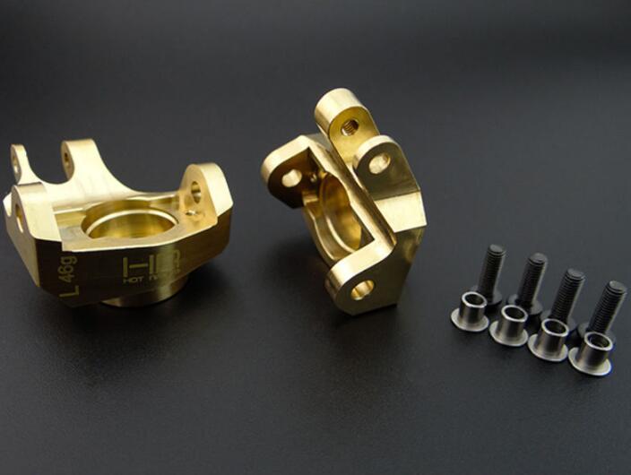 Hot-Racing SCXT21HM Brass Heavy Metal HD Bearing Front Knuckle SCX10 II