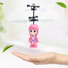 TXD-389 New Mini Little Fairy Induction Helicopter Flash Children's Toys(China)