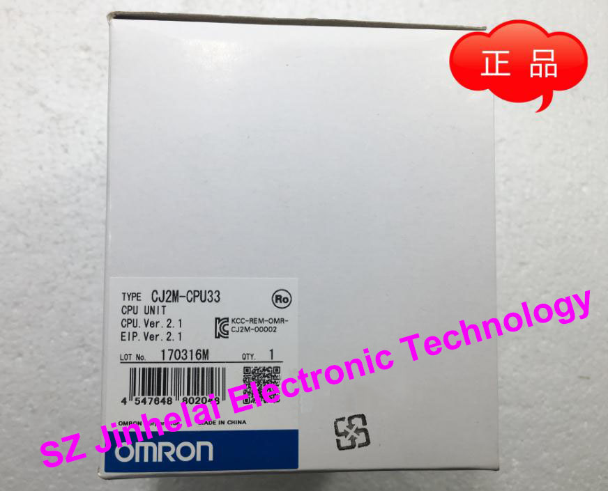 New and original CJ2M-CPU33 OMRON PLC CPU UNIT free shipping 1pcs s av36 sav36 rf power amplifier module new original