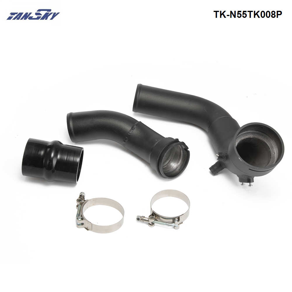 Cold Air Intake Pipe For BMW N55 F20 F30 F31 M135i M235i charge pipe kit TK-N55TK008P cnspeed air intake pipe kit for ford mustang 1989 1993 5 0l v8 cold air intake induction kits with 3 5 air filter yc100689