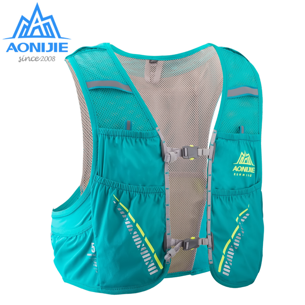 AONIJIE 5L Hydration Backpack Running Vest Harness Water Bladder Hiking Camping  Marathon Race Climbing