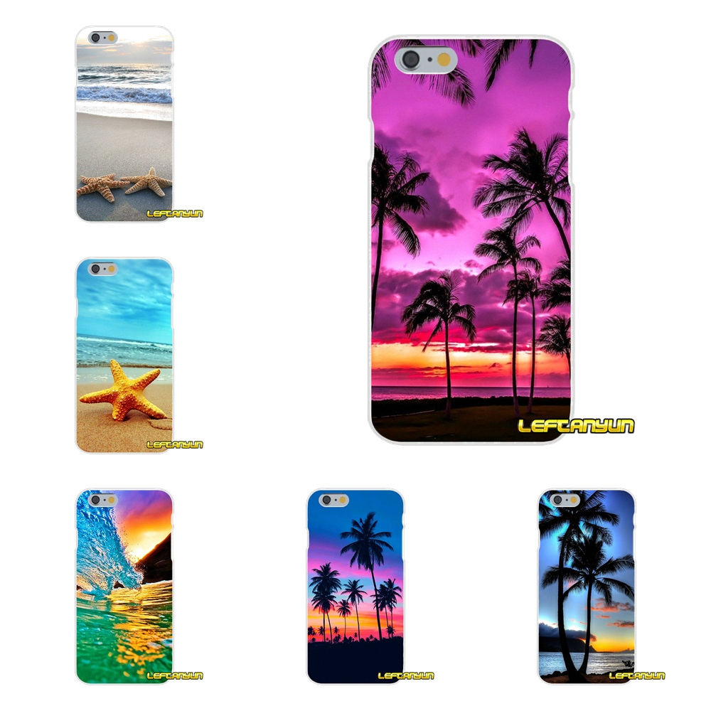 For Samsung Galaxy S3 S4 S5 MINI S6 S7 edge S8 S9 Plus Note 2 3 4 5 8 Sunset on sea Palm Tree Silicone Soft Phone Case