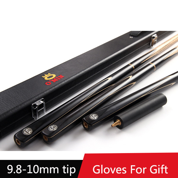 Cheap 2016 Handmade 3 4 Jointed Snooker Cues Sticks With 3 4 Cue Case Set 9.8-10mm Tips Tacos De Snooker China