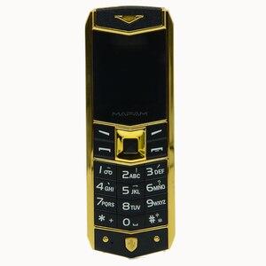Image 2 - MAFAM A8 мобильный телефон с двумя sim картами, роскошный металлический мобильный телефон с двумя sim картами и кожаным чехлом