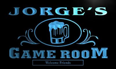 x0173-tm Jorges Game Room Beer Mug Bar Custom Personalized Name Neon Sign Wholesale Dropshipping On/Off Switch 7 Colors DHL
