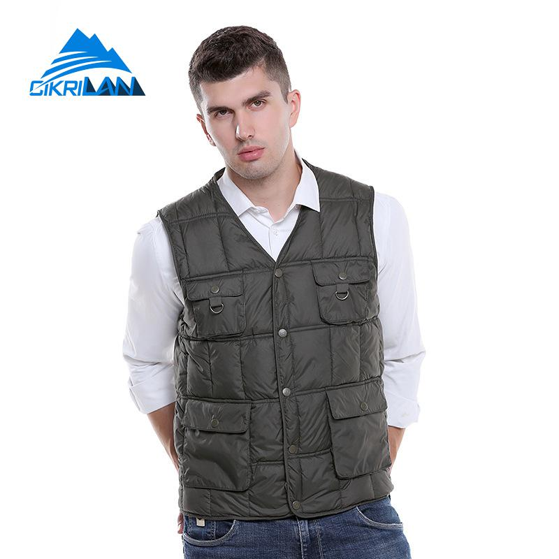 Mens Insulated Heated Outdoor Fishing Multi-pocket Vest Men Heating Winter Climbing Gilet Bodywarmer Camping Hiking Waistcoat