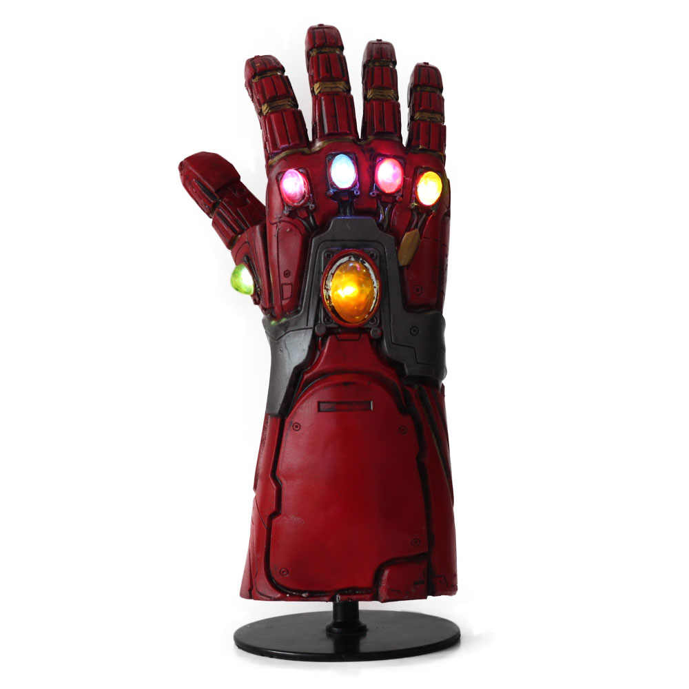 LED Endgame Iron Man Infinity Gauntlet Cosplay LED Thanos Gauntlet Guanti In Lattice Braccia Marvel Superhero Arma Cosplay