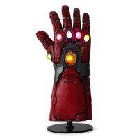 Светодиодный Мстители 4 завершающей Железный человек Бесконечность перчатку Косплэй светодиодный танос перчатку латексные перчатки руки ...