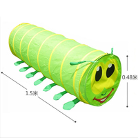 Portable Crawling Tent Foldable Toy Tent For Children Kids Tricolor Tunnel Play Tent Suit For Indoor