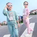 Girls clothing sets cartoon girl sport suit teenage girls clothes school children clothing set 3-13 years kids clothes tracksuit