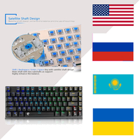 RS Mechanical wired keyboard 81 Key USB Titanium Plate RGB Backlight Mechanical Game PC Keyboard Outemu Blue Switch Black