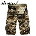 Nuevo 2017 Ocasionales de Los Hombres Pantalones Cortos de Camuflaje Hombres Pantalones Cortos Sueltos de Los Hombres de Gran Tamaño 29-44 Multi-bolsillo militar Corto homme