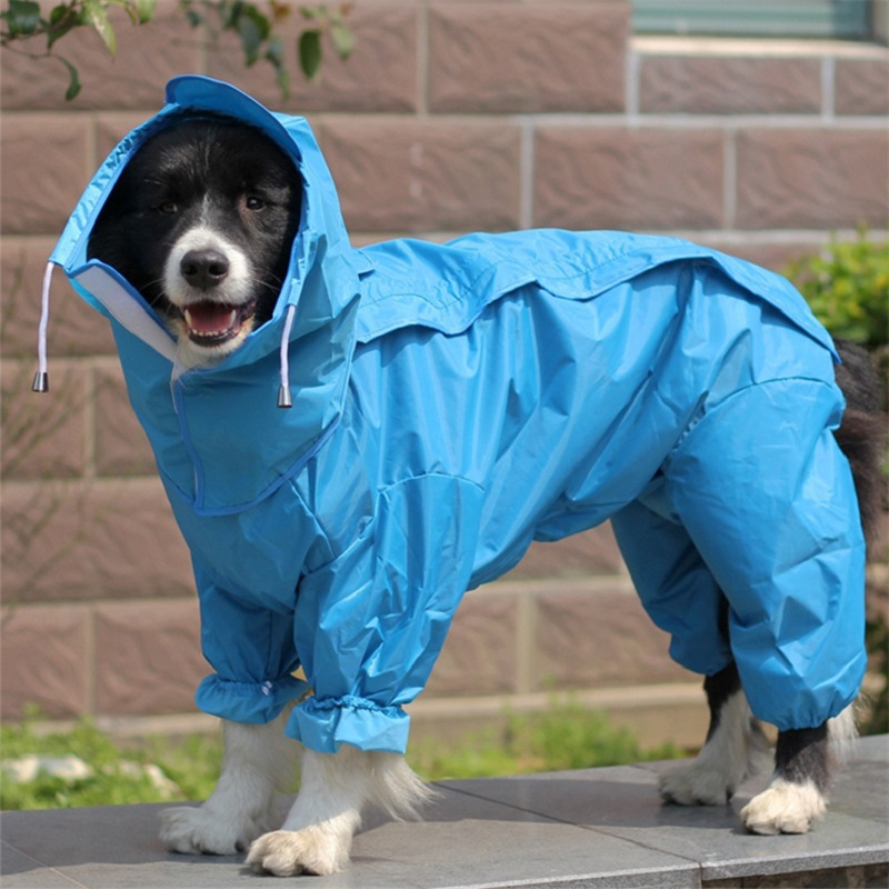 Large Dog Raincoat Clothes Waterproof Rain Jumpsuit For Big Dogs Golden Retriever Outdoor Pet Clothes WLYANG ...