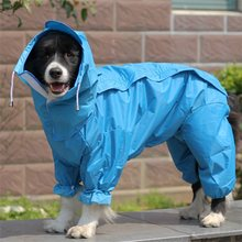 Large Dog Raincoat Clothes Waterproof Rain Jumpsuit For Big Medium Small Dogs Golden Retriever Outdoor Pet Clothing Coat WLYANG(China)