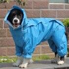 Large Dog Raincoat Clothes Waterproof Rain Jumpsuit For Big Medium Small Dogs Golden Retriever Outdoor Pet Clothing Coat WLYANG