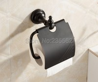 NEW Black Oil Antique Brass Bathroom Accessories Toilet Roll Tissue Paper Holders Wall Mounted lba824