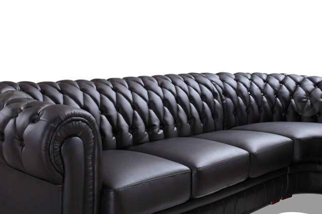 US $1168.0 |Modern sectional sofa for leather Chesterfield sofa Black Color  for Living room sofa furniture-in Living Room Sofas from Furniture on ...