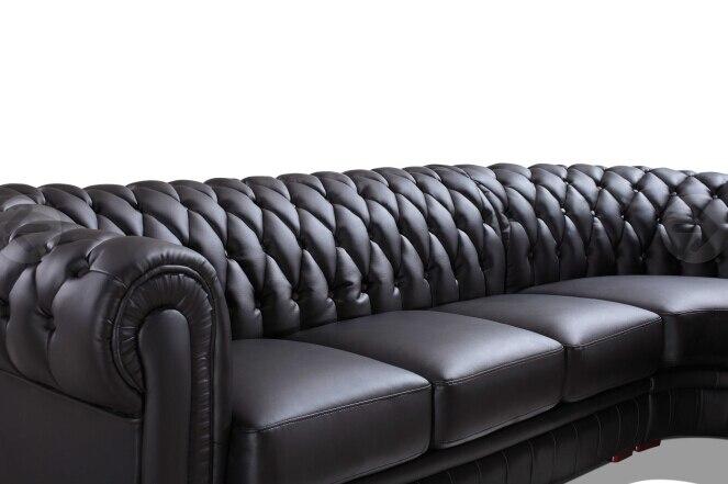 Moderno Sofá Secional Sofá Chesterfield De Couro Cor Preta Para Sala De  Estar Mobiliário Sofá Em Sofá Para A Sala De Móveis No AliExpress.com |  Alibaba ...