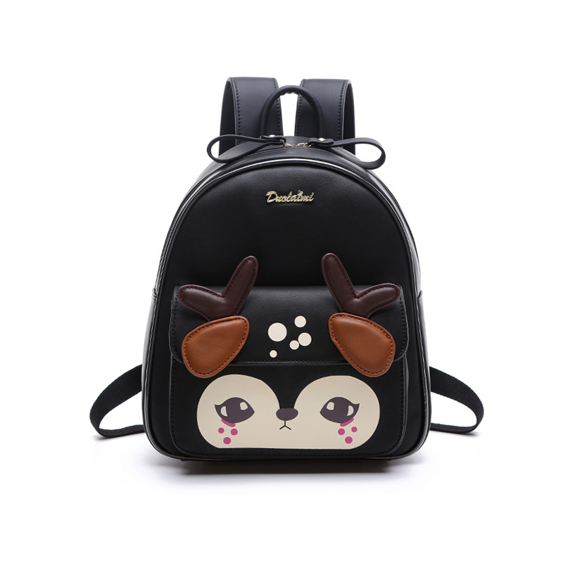 Backpack Black New Design Pu Women Leather School Bags Students Backpack Ladies Women s Travel Bags
