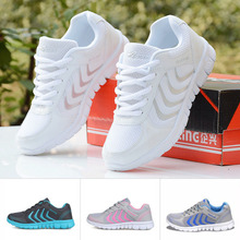 Women casual shoes 2017 new arrival fashion mesh Mixed Colors breathable Lightweight women canvas shoes