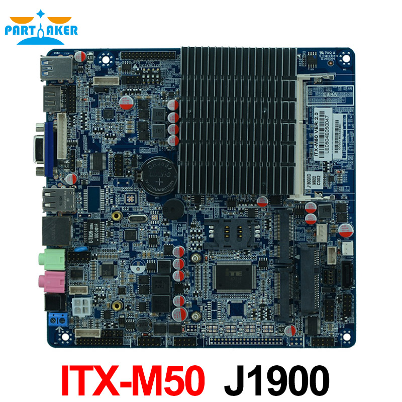 все цены на  ITX-M50 VER:1.5 Fanless AIO motherboard intel J1900 Bay Trail quad core Mini Itx Motherboard wifi /3g /2*RS232 1*RTL 8111E  онлайн
