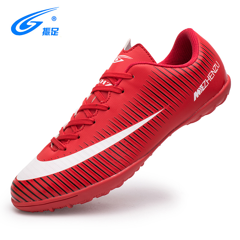 ZHENZU Eur 28-40 Boy Kids Indoor Soccer Shoes Football Boots Turf TF Hard Court Sneakers Trainers Sports Shoes