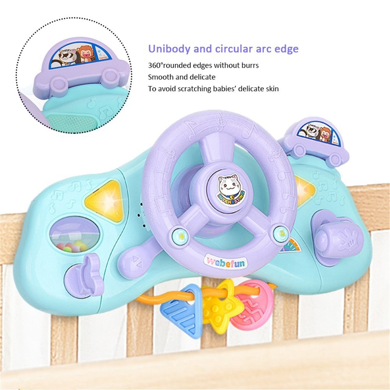 Купить с кэшбэком Multifunctional Electric Simulation Light Music Steering Wheel Educational Toys toys for boys