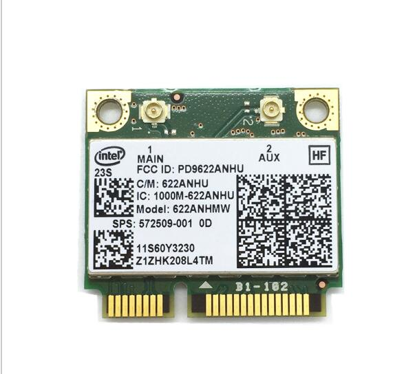 intel Advanced-N 6200 6200AN 622ANHMW  Half Mini PCIe 300M WLAN Card SPS:572509-001 for 2540P 4420S 4720S 6440B 6540B 8440P