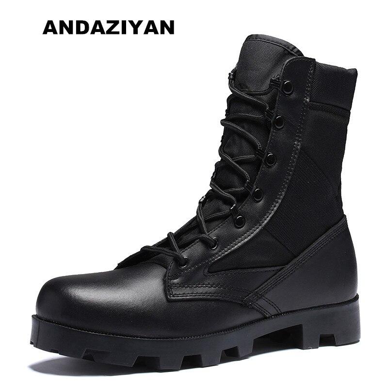 Bottes pour hommes haut de gamme stars avec les mêmes chaussures pour hommes de formation bottes de combat