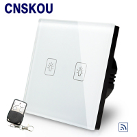 Touch Switch 220v Crystal Glass Panel Switch EU Touch Light Switch 1gang Wall Light Smart Switch