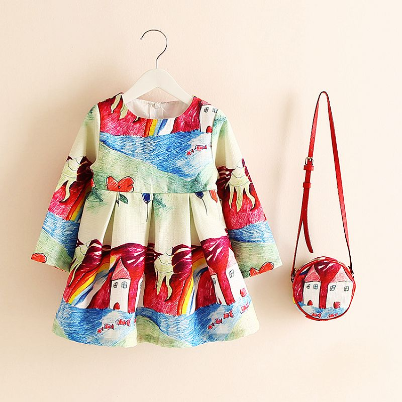 Buy Long Sleeve Dress Girl Christmas