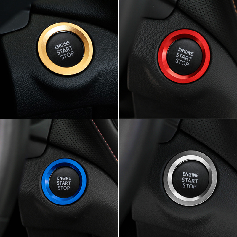 START Engine Button Replace Cover STOP Key Accessories Ignition Switch Cover For Toyota Camry Corolla Vios Reiz RAV4 CHR Yaris