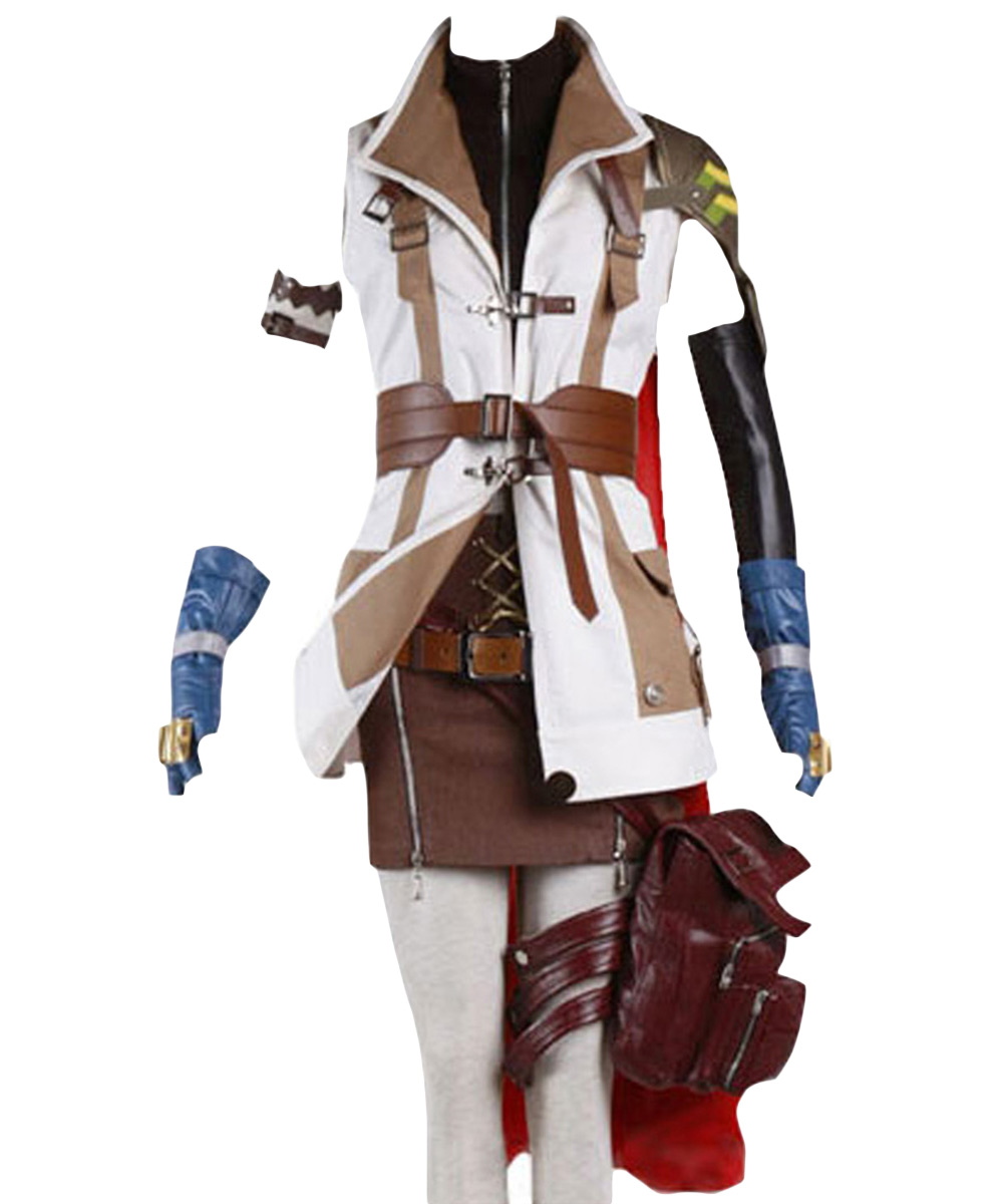 Final Fantasy Cosplay Costume XIII FF 13 Lightning Cosplay Costume Halloween Carnival Adult Women Men Full Sets