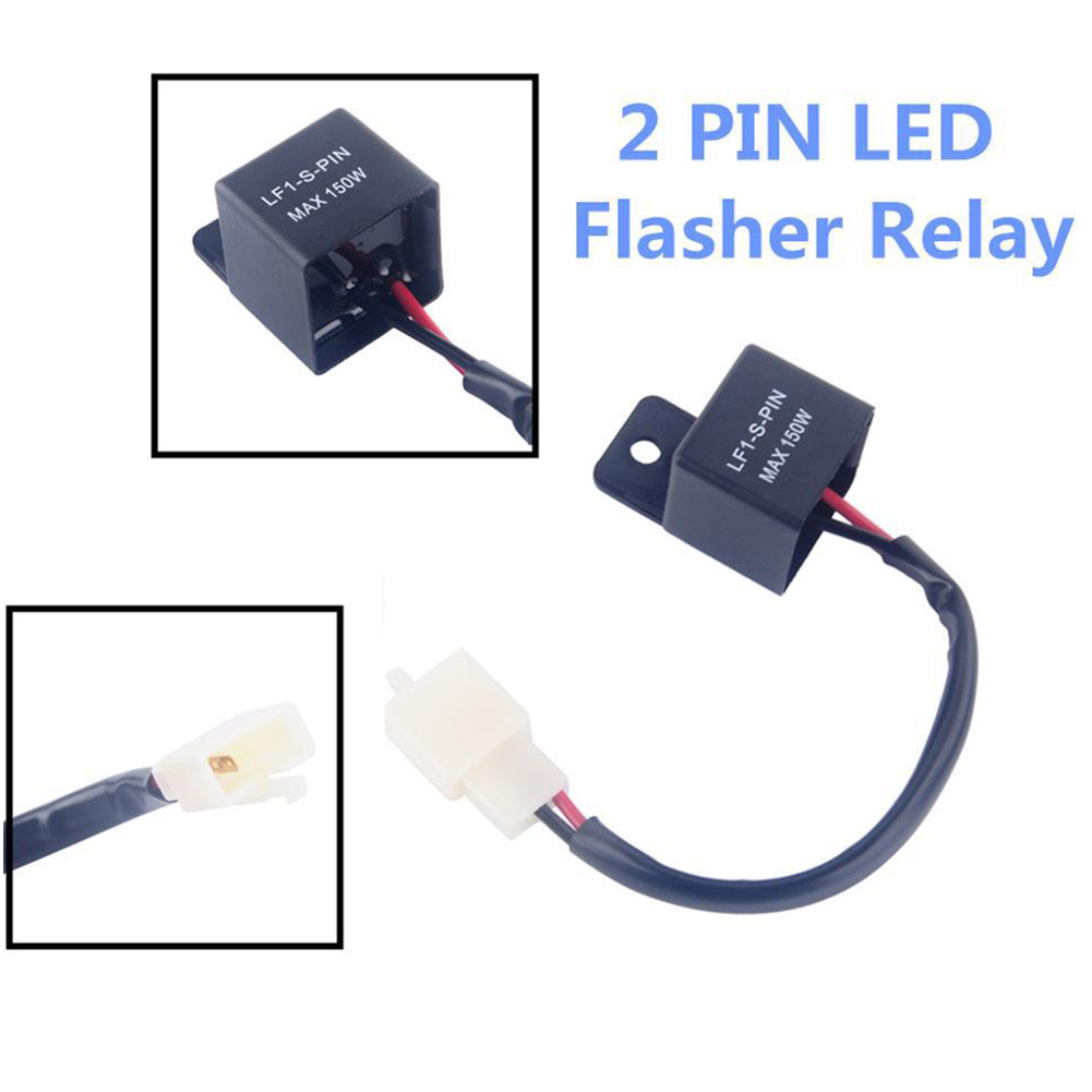 Universal Car Motorcycle Flasher Relay 2 Pin 12V LED Turn Signal Indicator Light Motorbike Blinker Relays CSL2017