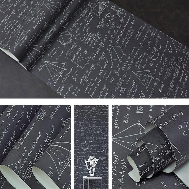 Beibehang Blackboard Geometric Mathematical Formula Equation Personality Wallpaper Children S Room Cafe Restaurant