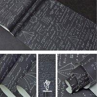 Beibehang Schoolbord geometrische wiskundige formule vergelijking persoonlijkheid behang kinderkamer cafe restaurant behang