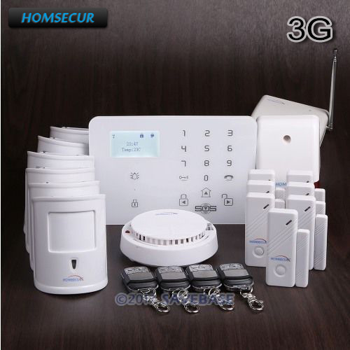 HOMSECUR Wireless&wired WCDMA-3G/GSM Home House Alarm System With Signal Booster