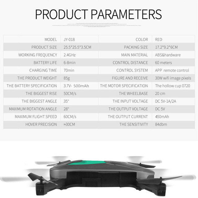 Mini Foldable Selfie Drone Elfie Pocket Drone With Camera Wifi Rc Helicopter Remote Control Toy Vs JJRC H37 Jy018 523 Quadcopter