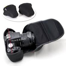 Размеры М неопрена Мягкий Камера сумка для Nikon D3100 D3200 D3300 D3400 D5500 D5300 D5100 D5200 D40 D3000 D5000 мягкая внутренняя сумка