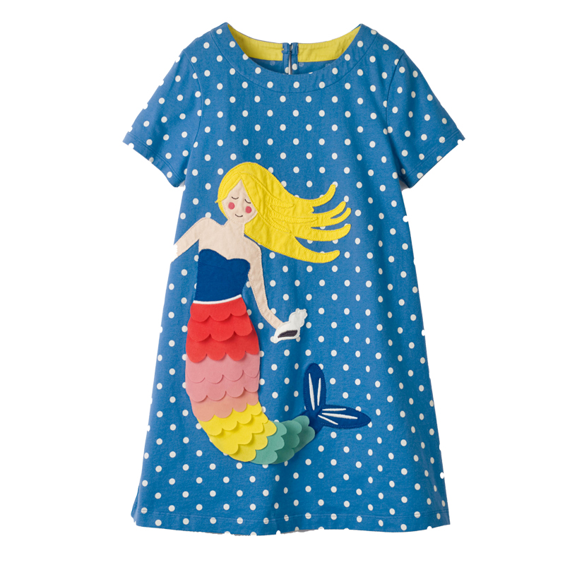 Baby Girls Summer Dresses Robe Enfant Princess Dress Costumes for Kids Clothing Rainbow Print 100% Cotton Girls Jersey Clothes Платье