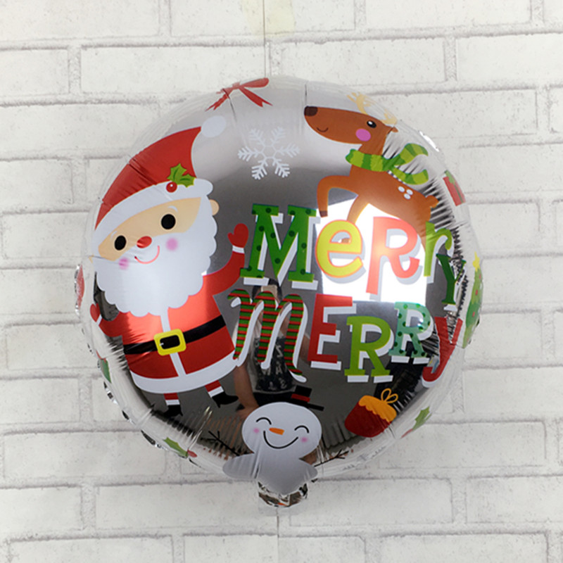XXPWJ New Christmas snowman old aluminum balloons party balloons wholesale childrens toys F-009