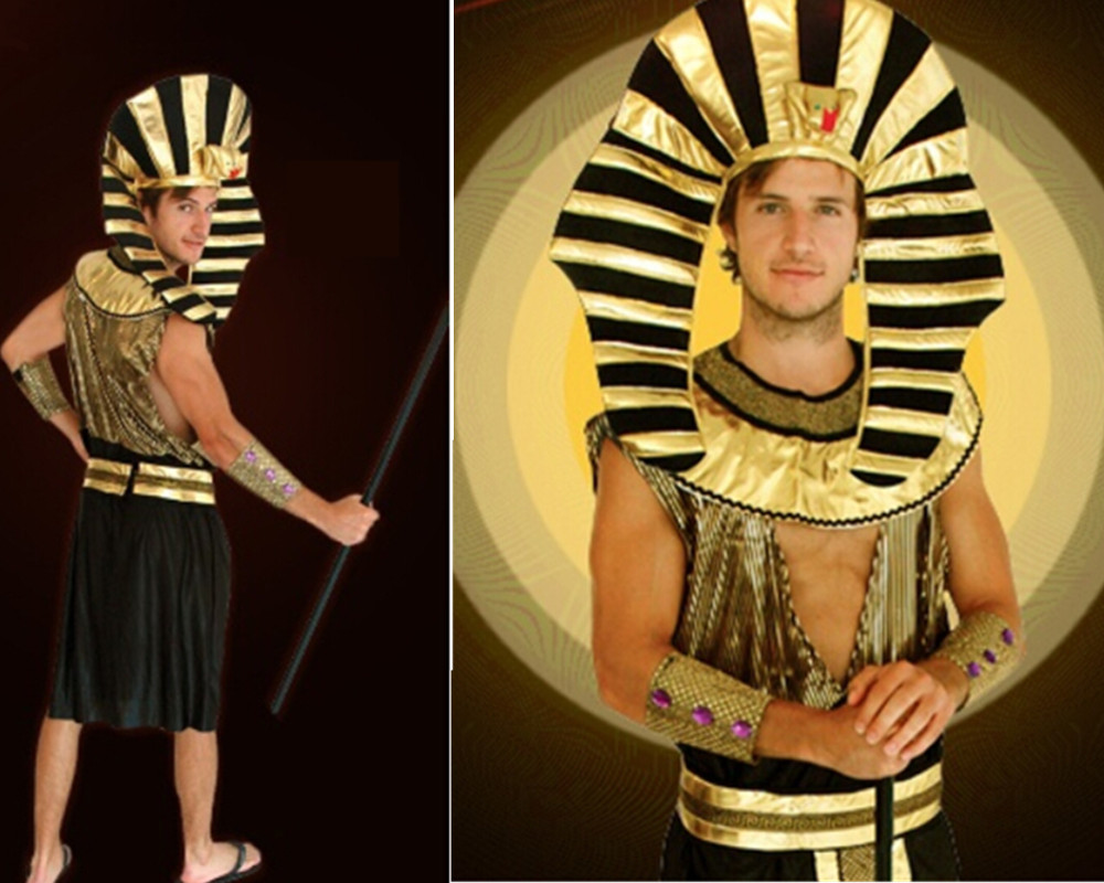 Halloween party adults costumes Egyptian Pharaoh King Men's Male ...