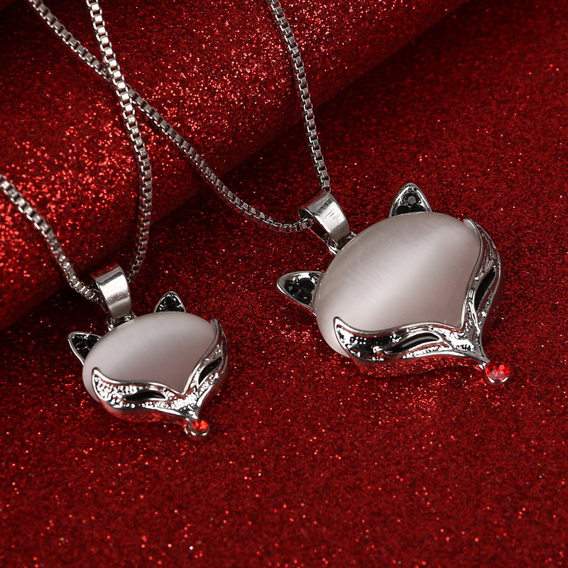 2016 Vintage Long Statement Necklace Silver Plated Fox Cat Women Necklaces & Pendants Fashion Jewelry 2 Muilti Layer Jewelry