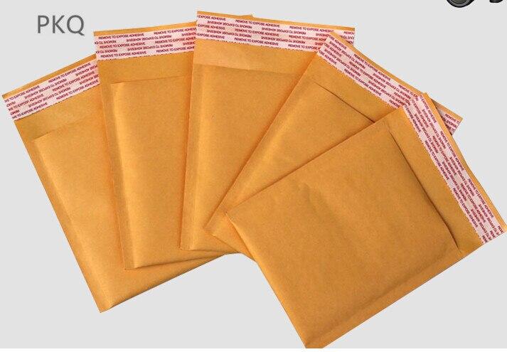 Papierumschläge GroßZüGig 20 Teile/los 6 Größe Kraft Gelb Blase Umschlag Mailing Taschen Self Adhesive Gepolsterte Umschläge Verpackung Kurier Taschen In Den Spezifikationen VervollstäNdigen