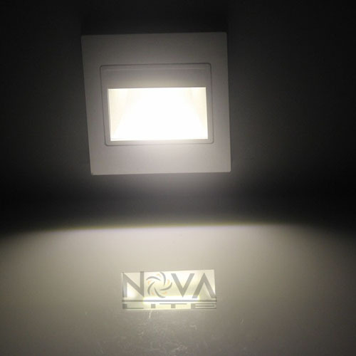 Night Light Fixtures: ABS Stair Wall Light Recessed Wall Lamp 1W SMD LED Night