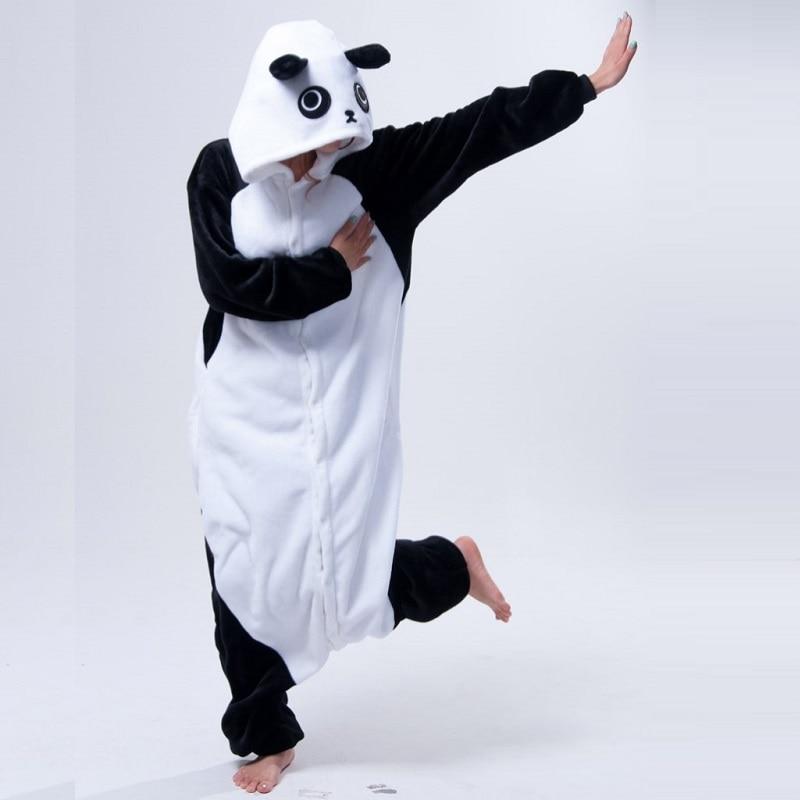 Mignon de Bande Dessinée Kungfu Panda Pyjamas Pour Femmes Adulte Animal Onesie Flanelle À Manches Longues À Capuche Hiver Pyjama Chaud de Nuit Pijama