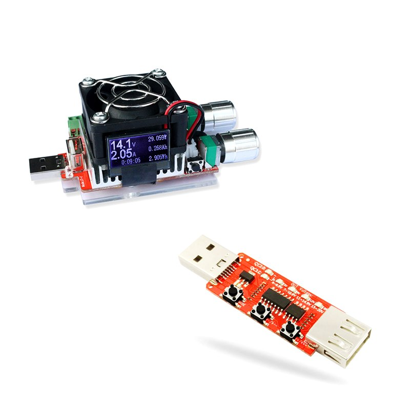 35W constant current double adjustable electronic load + QC2.0/3.0 triggers quick voltage usb tester voltmeter aging discharge 110w constant current electronic load tester 10a 1v 30v battery discharge capacity test equipment