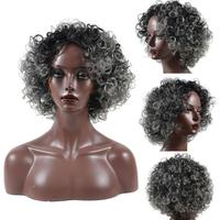 Density Natural Hairline Women Sprial Spring Curls Kinky Curly Synthetic Lace Wig New 17July13