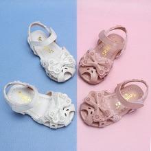 Summer Baby Kids Fashion Cut-outs Sandals Shoes Girls Princess Lace Bowtie Beach Children Soft Sole