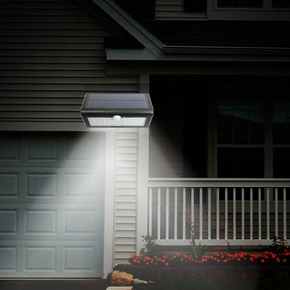 48 LED Solar Powered LED Light Garden Wall Light Waterproof PIR Motion Sensor Solar Power Outdoor Security Street Lamp White outdoor wall mounted solar motion sensor led white lamp silver